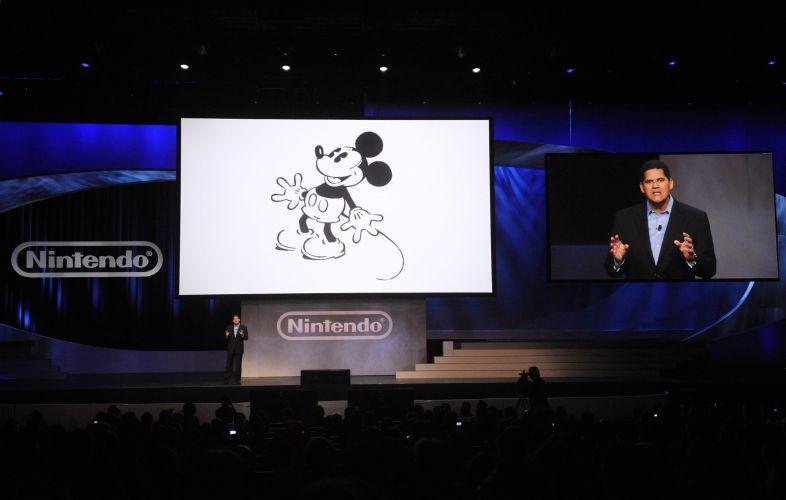 Detalhe de apresentação pré-E3 da Nintendo: o presidente Reggie Fils-Aime fala sobre