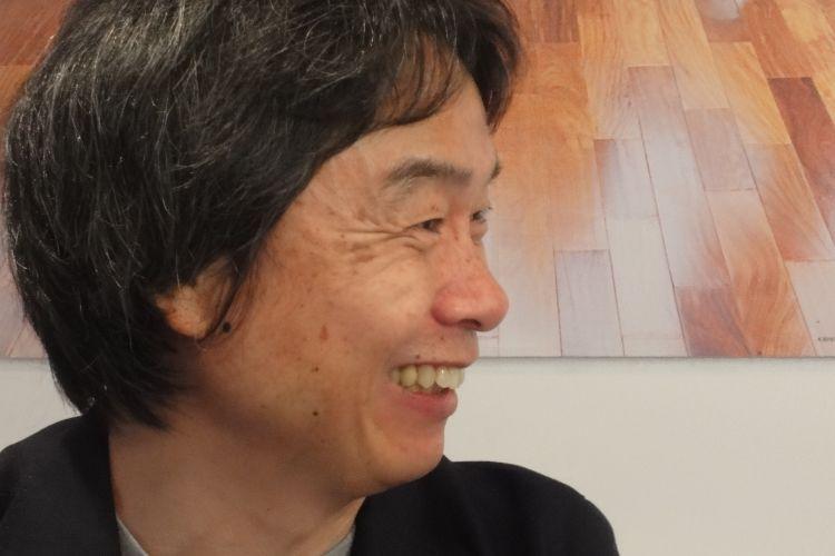 Shigeru Miyamoto, lendário criador de Super Mario, Donkey Kong e Zelda, durante entrevista para a equipe de UOL Jogos