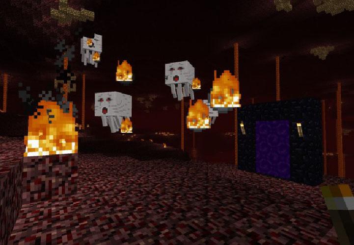 Os Ghasts são um espécie de água-viva flutuante que cospe fogo pela boca. E detalhe, eles não gostam muito de você.