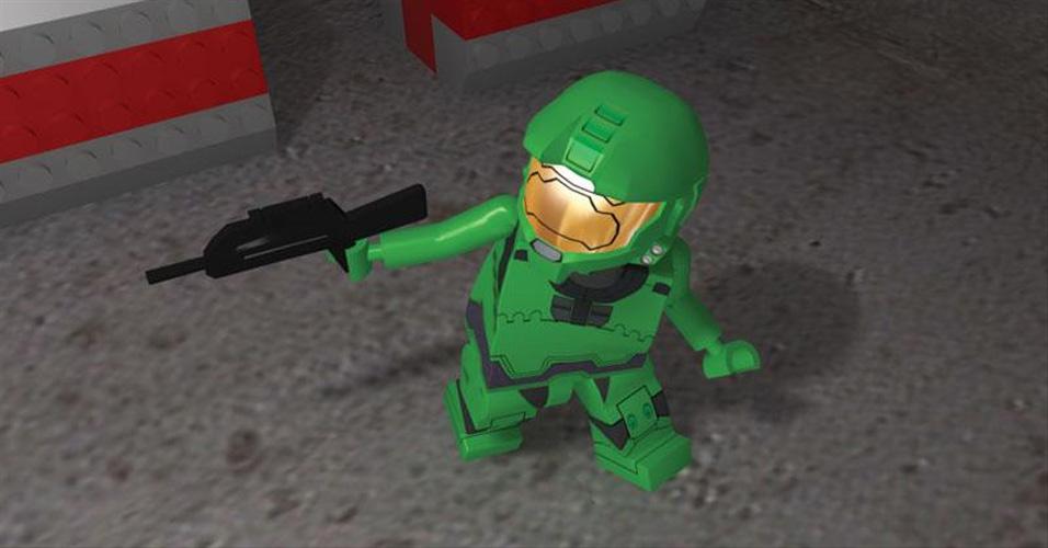 Se Batman e Indianda Jones eram sucesso em LEGO, porque Master Chief também não poderia no fictício