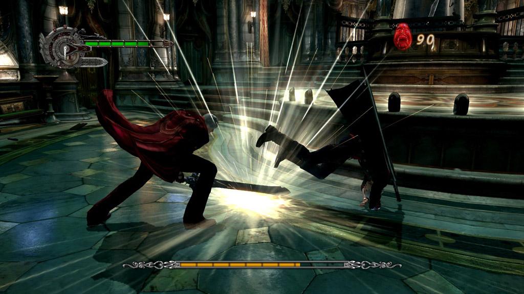 Скриншот из игры Devil May Cry 4 для pc. Кликните, чтобы увидеть следующий