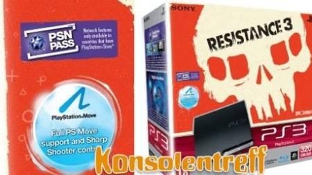 """Imagem do pacote de """"Resistance 3""""  mostra a logomarca do sistema 'PSN Pass'"""