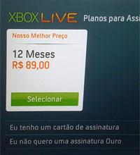 Um ano de conta Ouro na Live brasileira sai a partir de R$ 89