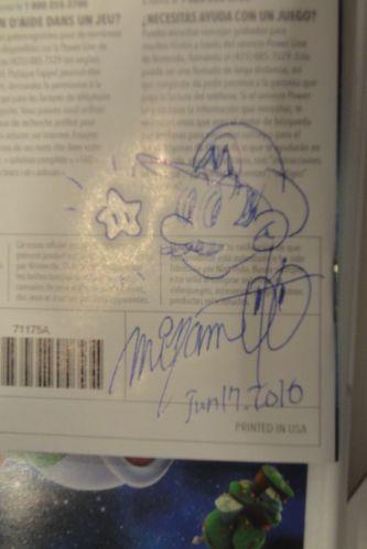 Autógrafo e desenho de Shigeru Miyamoto em cópia de