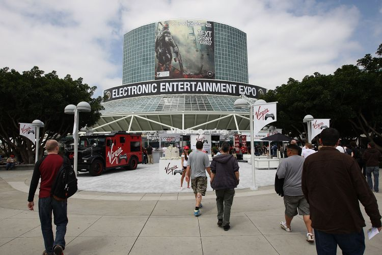 Entrada do LA Convention Center, em Los Angeles, onde acontece a E3 2010