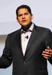 Reggie Fils-Aime, presidente da Nintendo of America, durante apresentação na E3 2011