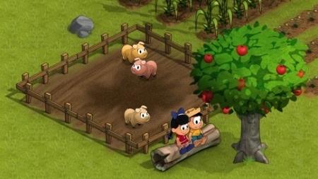 Visual colorido 3D retrata Chico Bento e Rosinha em jogo para redes sociais