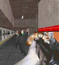 """Cena da fase do metrô da Sé, de São Paulo, no game """"Incidente em Varginha"""""""