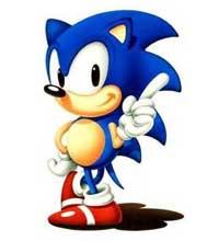 O design original de Sonic, com as tradicionais sapatilhas vermelhas e brancas